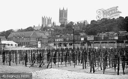 Lincoln, Cattle Market And Cathedral c.1950