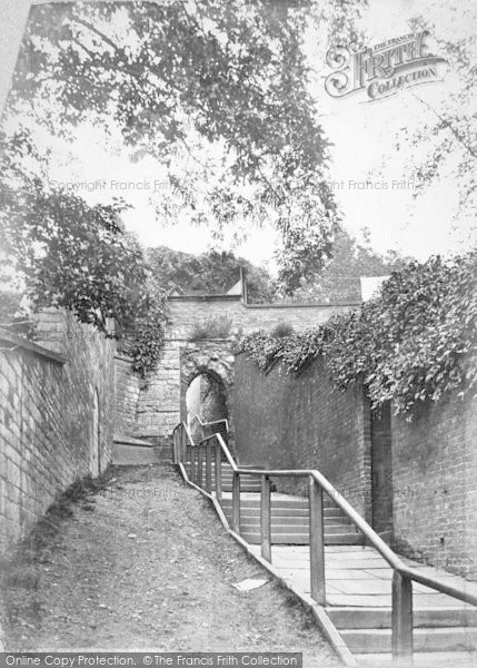Photo of Lincoln, Greestone Stairs c.1879