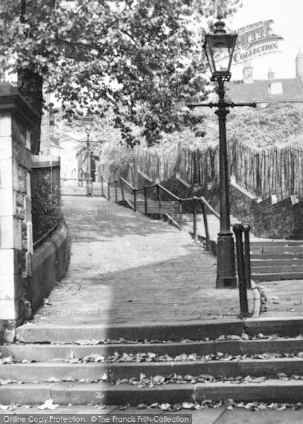 Photo of Lincoln, Greestone Stairs c.1955