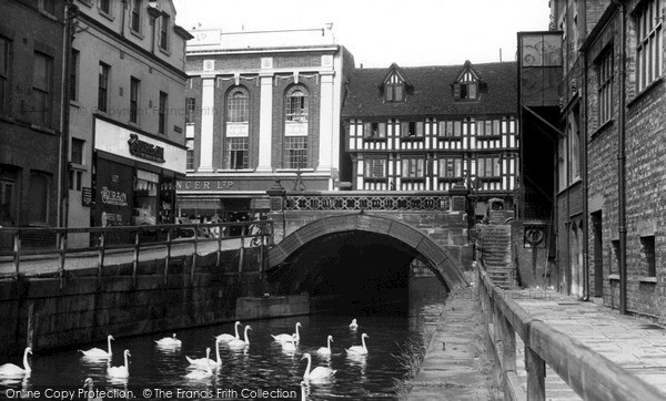 Photo of Lincoln, High Bridge c.1955