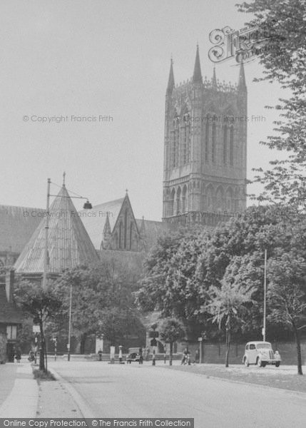Photo of Lincoln, Northgate And Cathedral c.1955
