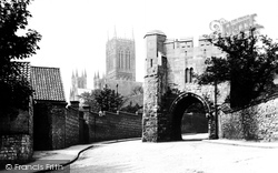 Lincoln, Pottergate And Cathedral 1890