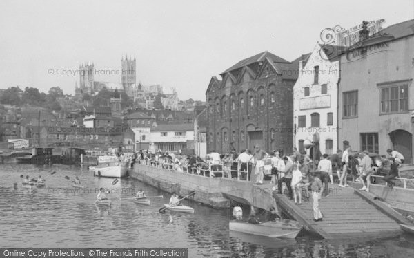 Photo of Lincoln, Quayside At Brayford c.1965