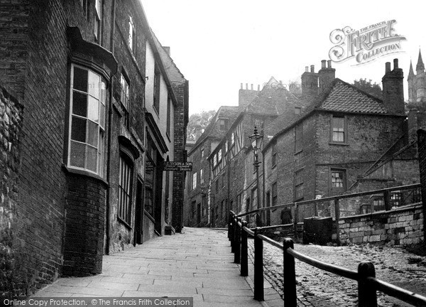 Photo of Lincoln, Steep Hill c.1955