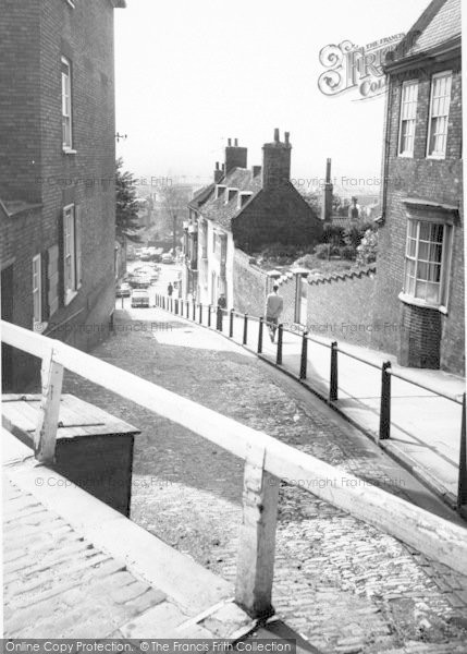 Photo of Lincoln, Steep Hill c.1965