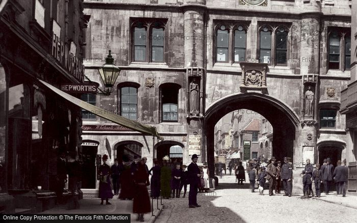 Photo of Lincoln, Stonebow 1890