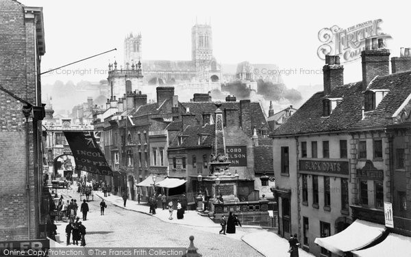 Lincoln, the Cathedral and Stonebow 1890