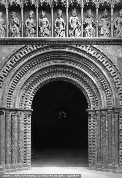 Photo of Lincoln, The Cathedral, The West Door c.1879