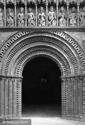 Lincoln, The Cathedral, The West Door c.1879