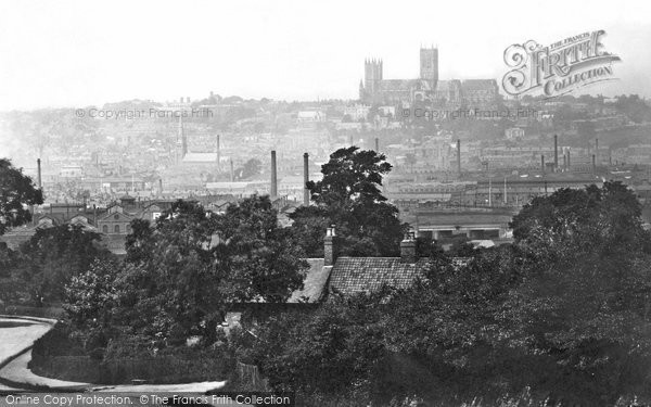 Photo of Lincoln, The City From Canwick Hill  1890