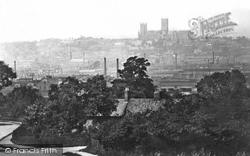 Lincoln, The City From Canwick Hill  1890