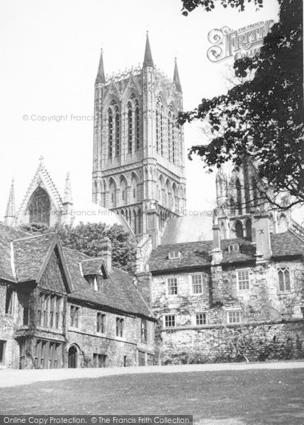 Photo of Lincoln, Vicars' Court c.1955