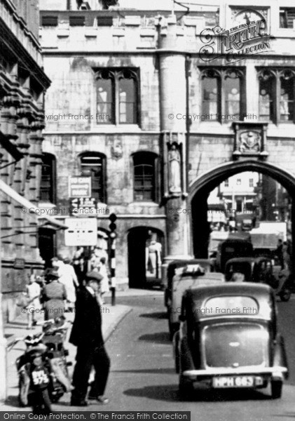 Photo of Lincoln, Waiting To Cross High Street c.1950