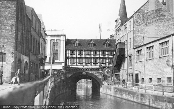 Photo of Lincoln, Waterside And High Bridge c.1950