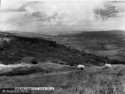 Lindale In Cartmel, From The Fells c.1960