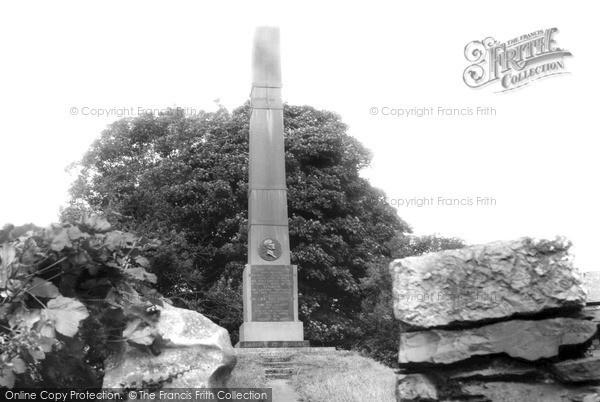 Photo of Lindale In Cartmel, John Wilkinson Memorial c.1960