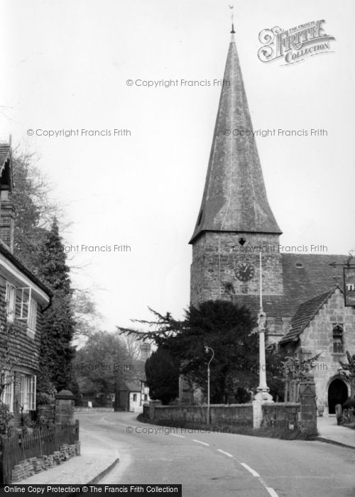 Photo of Lindfield, All Saints Church c.1960