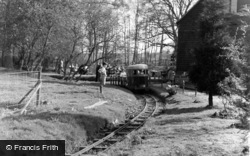 Lindfield, The Tudor Barn, Miniature Railway c.1955