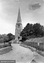 St Lawrence Church c.1955, Lindridge