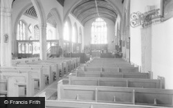 Lingfield, The Church, Interior 1959