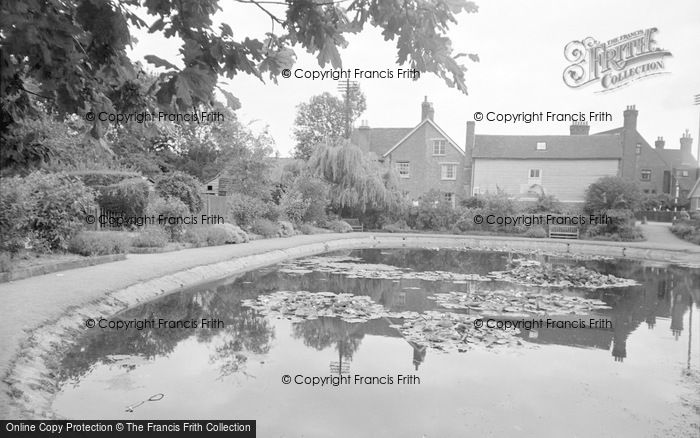 Photo of Lingfield, The Pond 1958