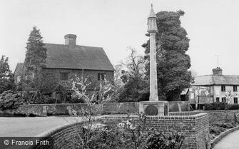 Lingfield, the War Memorial 1951