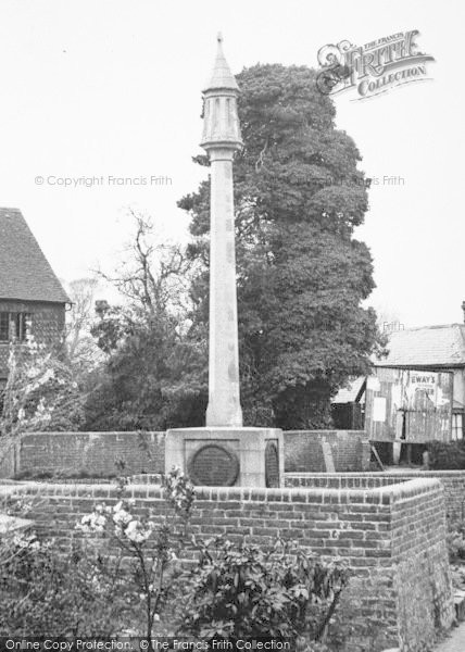 Photo of Lingfield, The War Memorial 1951
