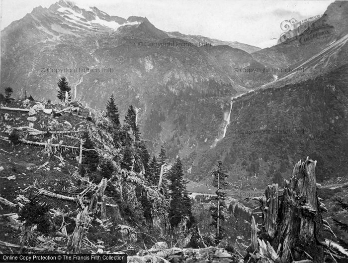 Photo of Linthal, Maderaner Thal, Course Of An Avalanche c.1860
