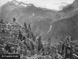 Maderaner Thal, Course Of An Avalanche c.1860, Linthal