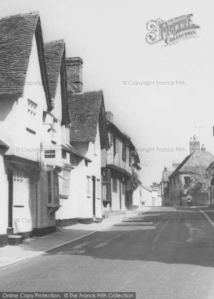 Photo of Linton, Cycling In The High Street c.1960