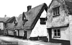 Linton, Old Cottages c.1955