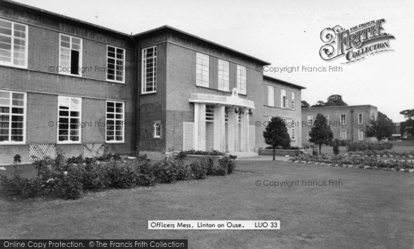 Photo of Linton On Ouse, Officers Mess c.1965