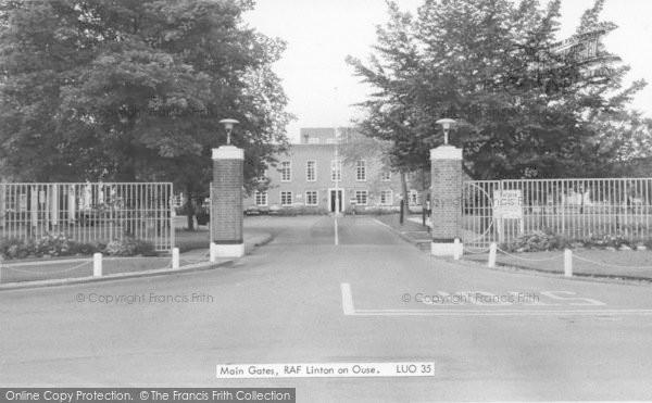 Photo of Linton On Ouse, The Main Gates, RAF Base c.1965