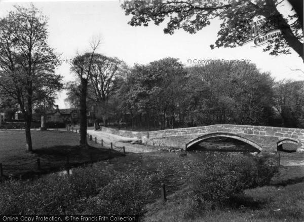 Photo of Linton, Packhorse Bridge And Linton Hall c.1955