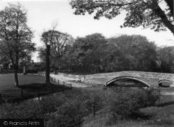 Packhorse Bridge And Linton Hall c.1955, Linton
