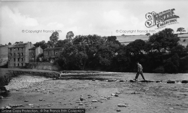 Photo of Linton, Stepping Stones And Low Mill c.1955