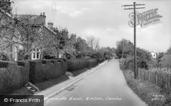 Symonds Lane c.1955, Linton