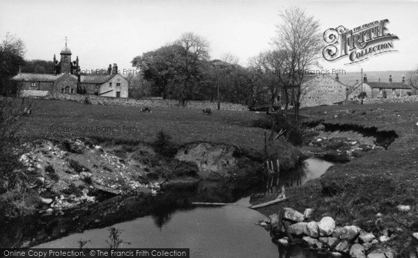 Photo of Linton, The Beck And Almshouses c.1955