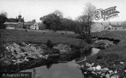 The Beck And Almshouses c.1955, Linton