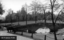 The Packhorse Bridge And Almshouses c.1955, Linton