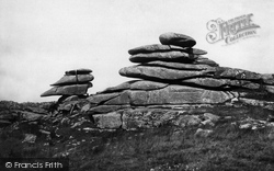 Liskeard, Rock Formations Near The Cheesewring, Stowe's Hill, Bodmin Moor 1890
