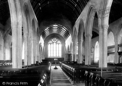 Liskeard, The Church Nave East 1890
