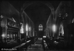 Liskeard, The Church, Nave West 1903