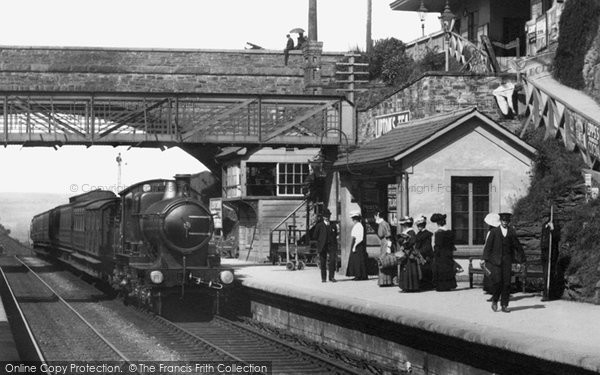 Photo of Liskeard, Train In The Station 1907
