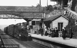 Liskeard, Train in the Station 1907
