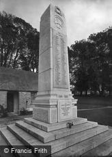 Liskeard, War Memorial 1922