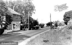 Little Baddow, Post Office And North Hill c.1960