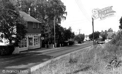 Little Baddow, Post Office And North Hill c.1965