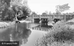 Little Baddow, The River Chelmer And Bridge c.1960