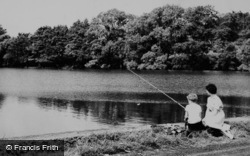 Fishing At Oulton Mill Pool c.1960, Little Budworth